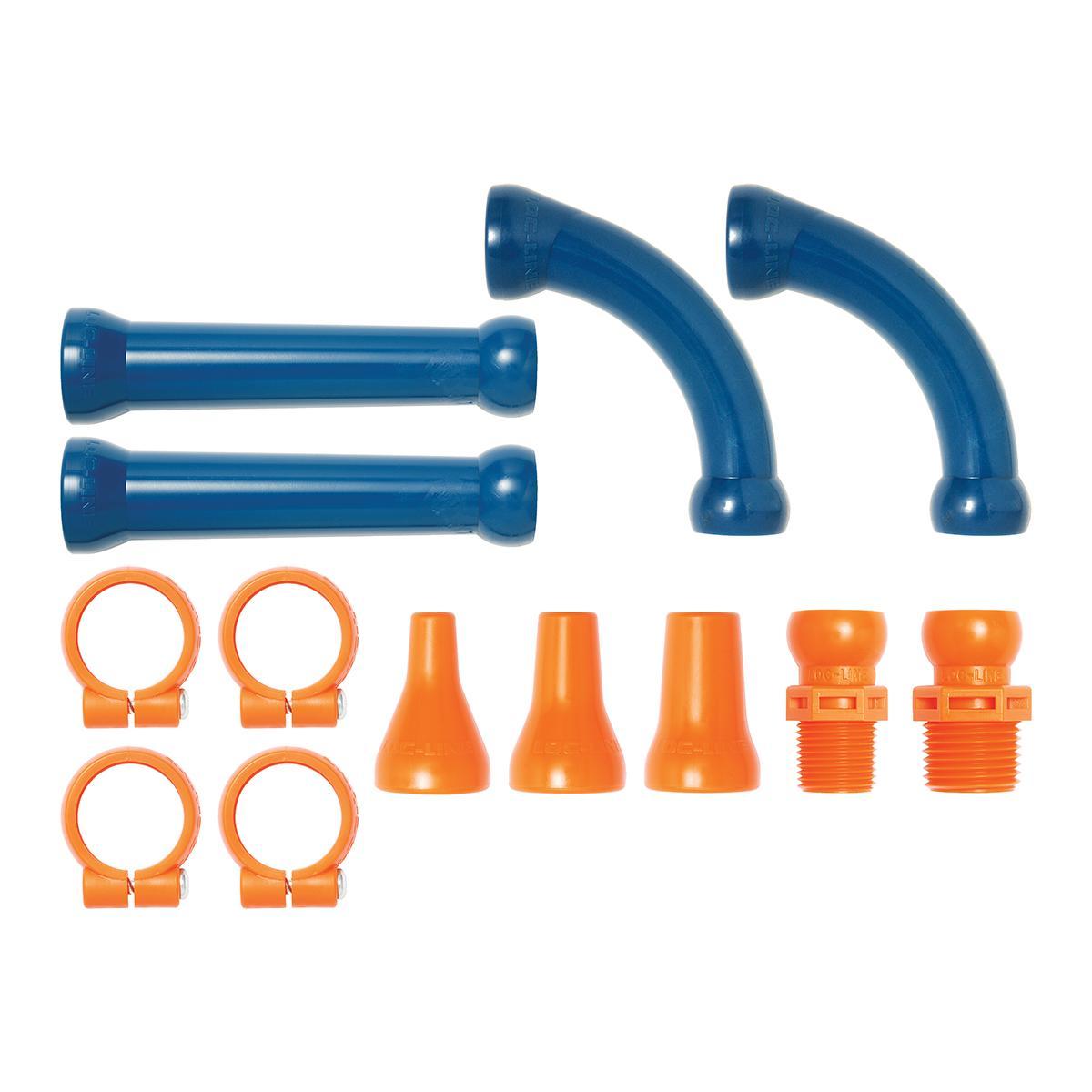 "Loc-Line 1//2/"" Hose Flat Nozzle Assorment Kit 51844 NEW!!!"